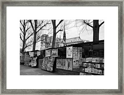Framed Print featuring the photograph Book Sellers By The Seine / Paris by Barry O Carroll