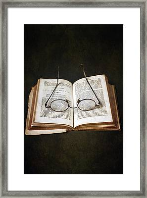 Book With Glasses Framed Print by Joana Kruse