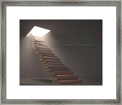 Books Making Steps Framed Print