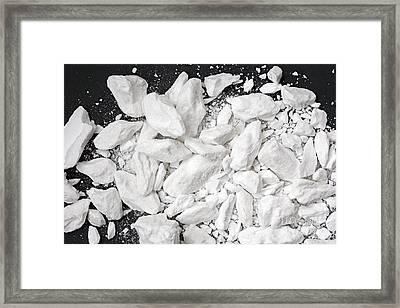 Borax Crystals Framed Print by Dirk Wiersma