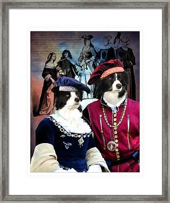 Border Collie Art Canvas Print Framed Print