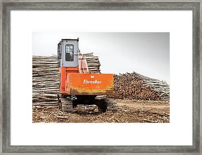 Boreal Forest Felled For Tar Sands Mine Framed Print