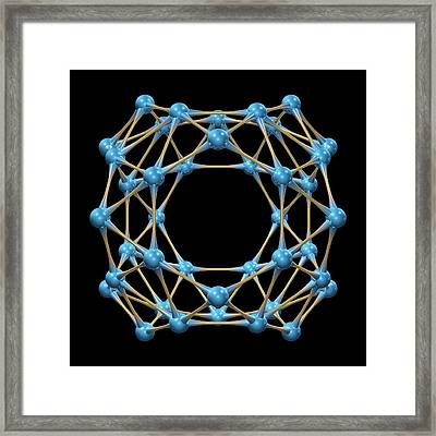 Borospherene Molecule Framed Print by Dr Mark J. Winter
