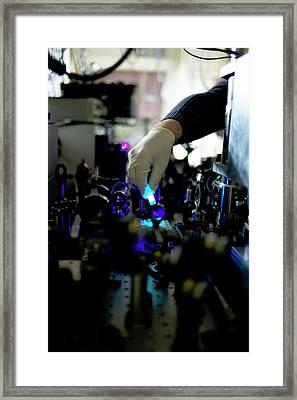 Bose-einstein Condensate Framed Print by Ibm Research