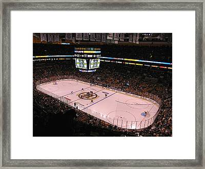 Boston Bruins Framed Print by Juergen Roth
