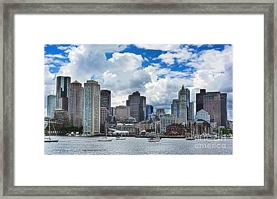 Boston Harbor Framed Print by Julia Springer
