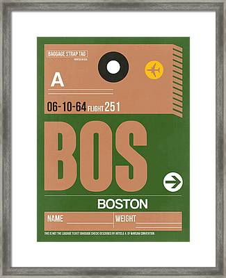 Boston Luggage Poster 1 Framed Print by Naxart Studio