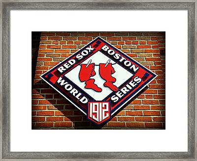 Boston Red Sox 1912 World Champions Framed Print
