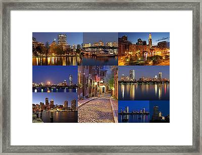 Boston Skyline Photography Framed Print by Juergen Roth