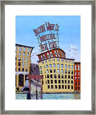 Boston Wharf Co. Framed Print by Mike Gruber