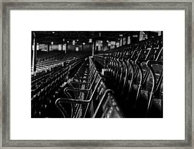 Bostons Fenway Park Baseball Vintage Seats Framed Print by Doc Braham