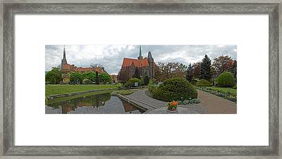 Botanical Gardens With Collegiate Framed Print by Panoramic Images