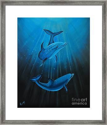 Bottle-nose Dolphins Framed Print