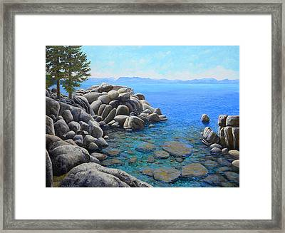 Boulder Cove On Lake Tahoe Framed Print by Frank Wilson