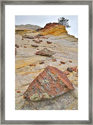 Boulder-notom Road Rocks Framed Print