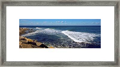 Boulders On The Beach, Montauk Point Framed Print by Panoramic Images