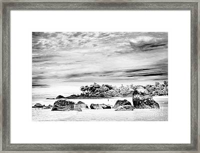 Boulders On The Beach Framed Print