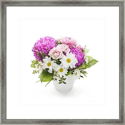 Bouquet Of Flowers Framed Print by Elena Elisseeva