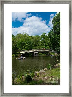 Bow Bridge Central Park Framed Print by Amy Cicconi