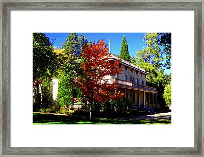 Bowers Mansion Framed Print by Lynn Bawden