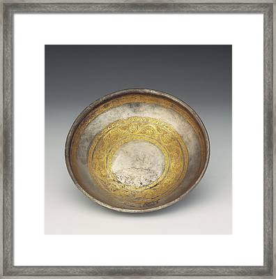 Bowl With Tendril Frieze Unknown Eastern Hellenistic Empire Framed Print by Litz Collection