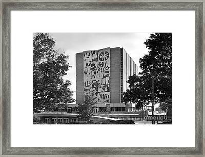 Bowling Green State University Jerome Library Framed Print