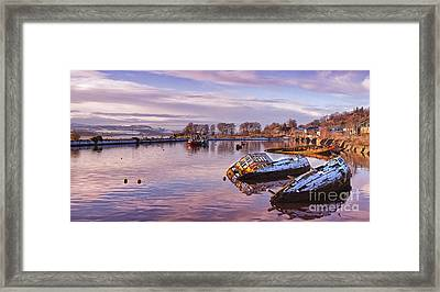 Bowling Harbour Panorama 02 Framed Print