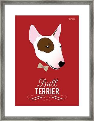 Bowtie Dogs Framed Print by Popiko Shop