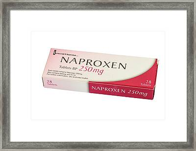 Box Of 250mg Tablets Of Naproxen Framed Print by Geoff Kidd