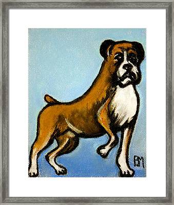 Boxer Framed Print by Pete Maier