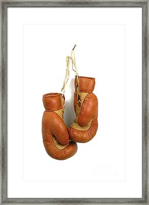Boxing Gloves Framed Print by Bernard Jaubert