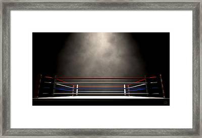 Boxing Ring Spotlit Dark Framed Print
