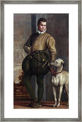 Boy With A Greyhound Framed Print by Paolo Veronese