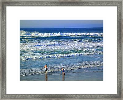 Boys By The Bay Framed Print