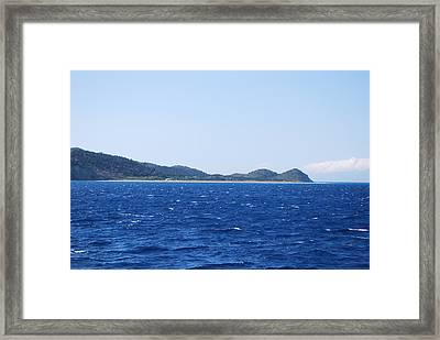 Bragini Beach Framed Print by George Katechis