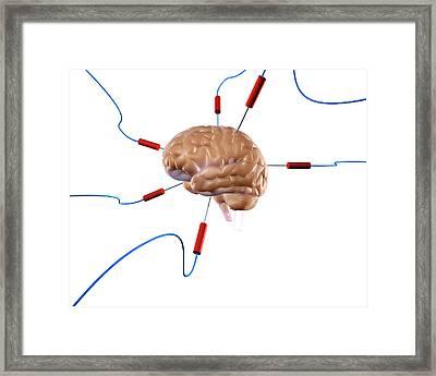 Brain Experiment Framed Print
