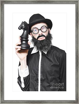Brainy Businessman Developing Business Strategy Framed Print by Jorgo Photography - Wall Art Gallery