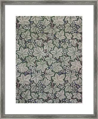 Bramble Wallpaper Design Framed Print by Kate Faulkner