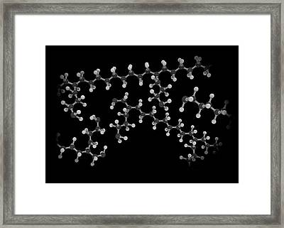 Branched Molecules Framed Print by Mikkel Juul Jensen