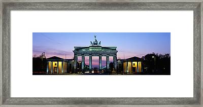 Brandenburg Gate, Berlin, Germany Framed Print by Panoramic Images