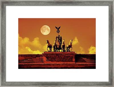 Brandenburg Gate Framed Print by Detlev Van Ravenswaay