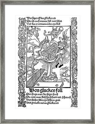 Brant Ship Of Fools Framed Print by Granger