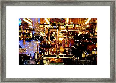 Brass Beer Framed Print by Sharon Costa