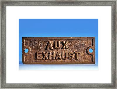 Brass Sign From The Titanic Framed Print by Patrick Landmann/science Photo Library