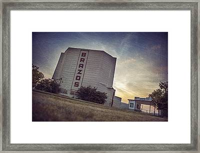 Brazos Drive In Theater Framed Print