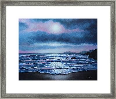 Breaking Waves Coumeenole Beach Framed Print by John  Nolan