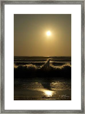 Breaking Waves Framed Print by Skip Tribby