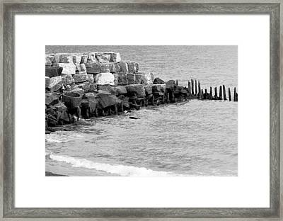 Framed Print featuring the photograph Breakwater by Ricky L Jones