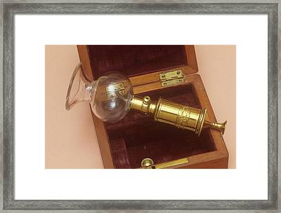 Breast Pump Framed Print by Science Photo Library