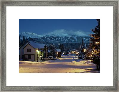 Breckenridge Colorado Morning Framed Print